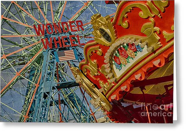 Wonder Wheel - Coney Island Greeting Card