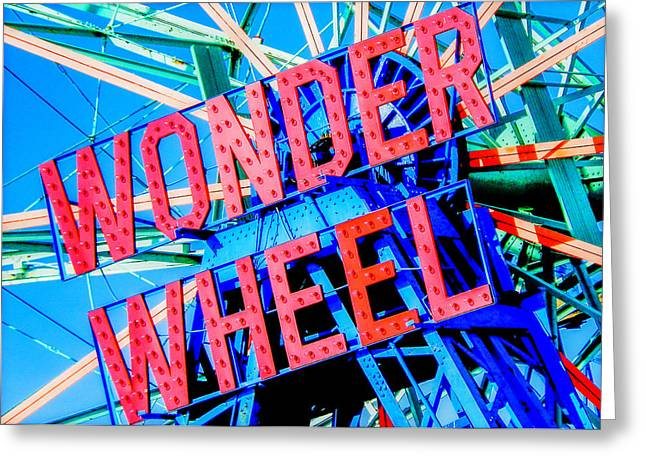 Wonder Wheel Greeting Card by Jon Woodhams
