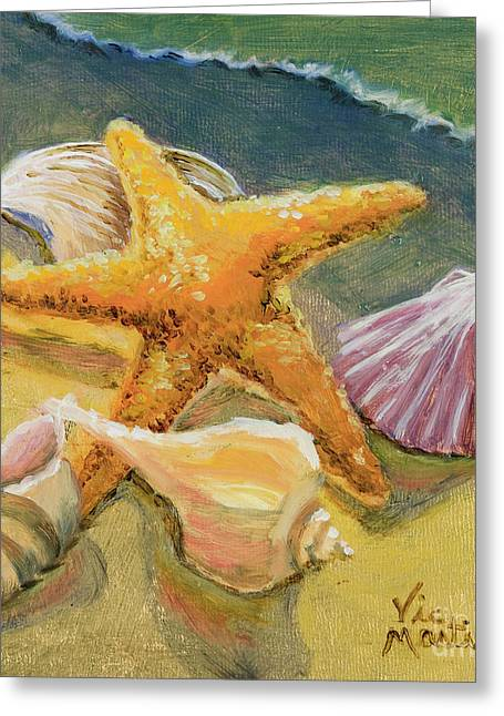 Greeting Card featuring the painting Wonderful Find by Vic  Mastis