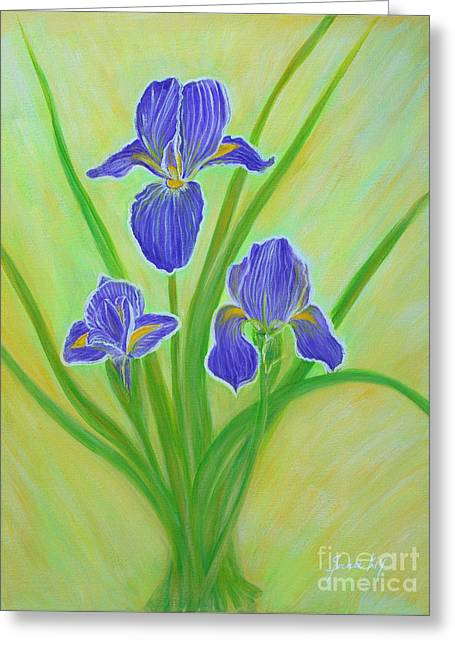 Wonderful Iris Flowers. Inspirations Collection. Greeting Card