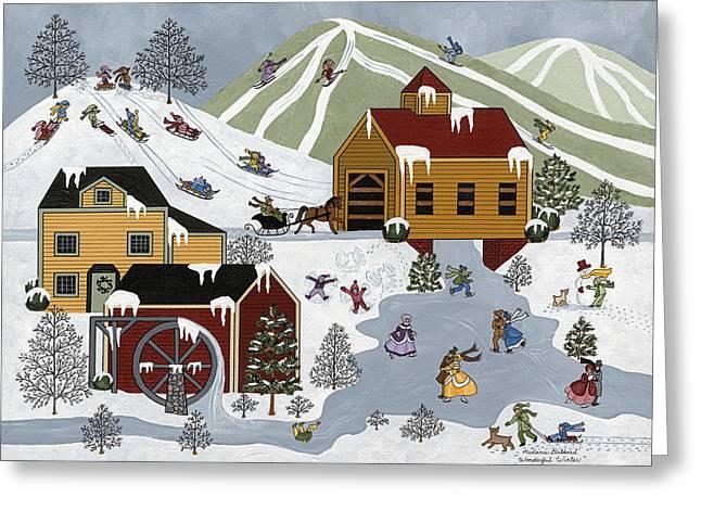 Wonderful Winter Greeting Card by Medana Gabbard