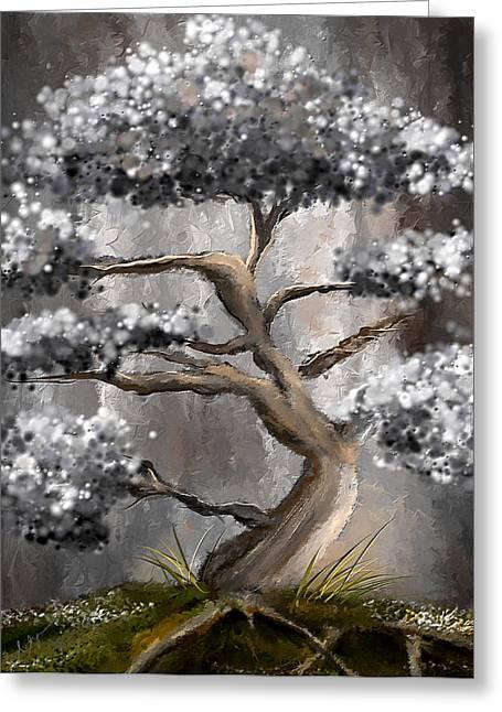 Wonderfully Gray - Shades Of Gray Art Greeting Card by Lourry Legarde