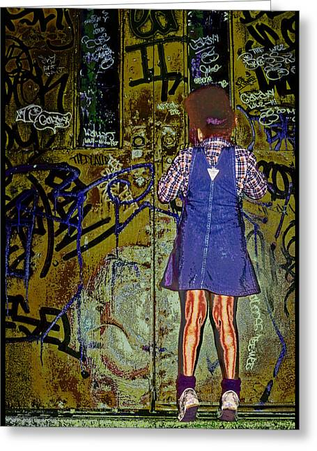 Wondering What's Inside Greeting Card by Kellice Swaggerty