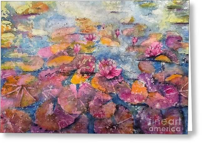 Wonderland Waterlilies Greeting Card
