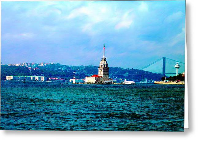 Wonders Of Istanbul Greeting Card by Zafer Gurel