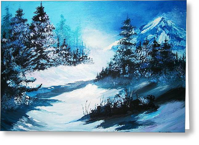 Greeting Card featuring the painting Wonders Of Winter by Al Brown