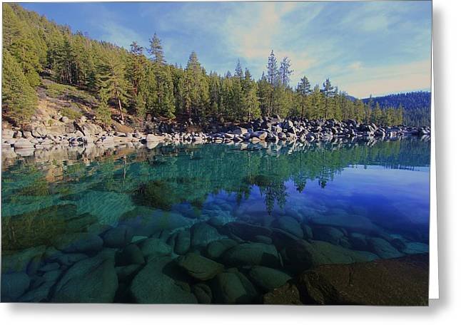 Wondrous Waters Greeting Card by Sean Sarsfield