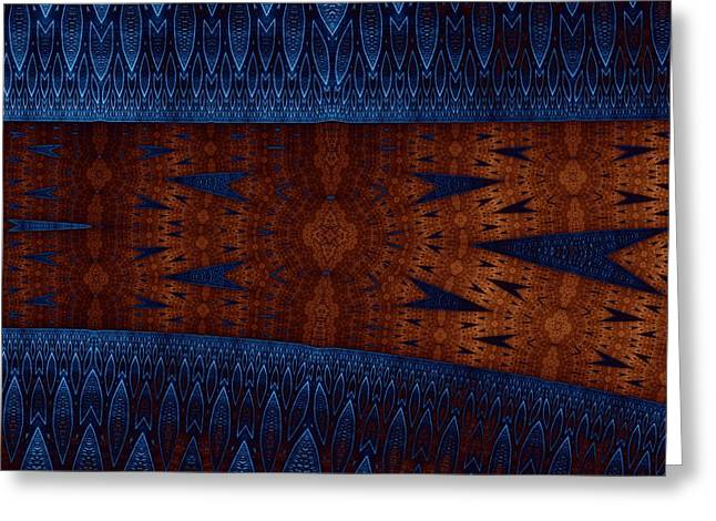 Wood And Blue Greeting Card by Mark Eggleston