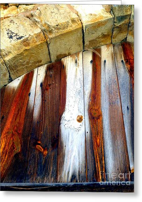 Wood And Stone Greeting Card by Lauren Leigh Hunter Fine Art Photography