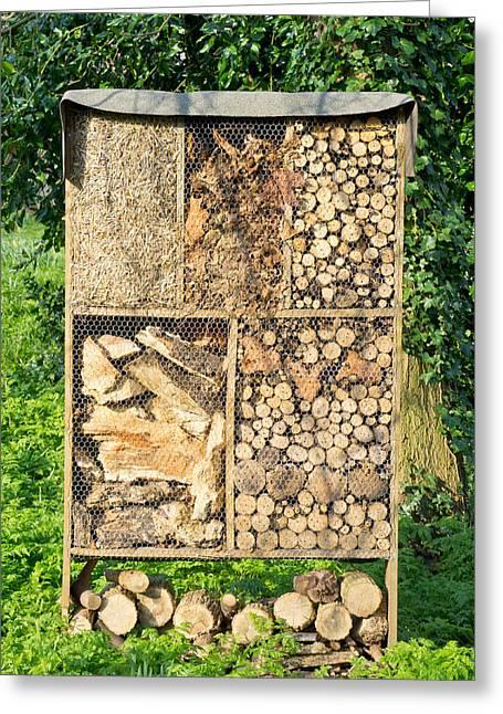 Wood And Straw Storage Greeting Card by Tom Gowanlock