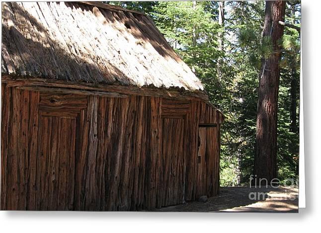 Wood Barn At Lake Tahoe Greeting Card