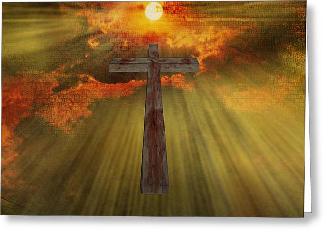 Wood Cross  Greeting Card by Bruce Rolff