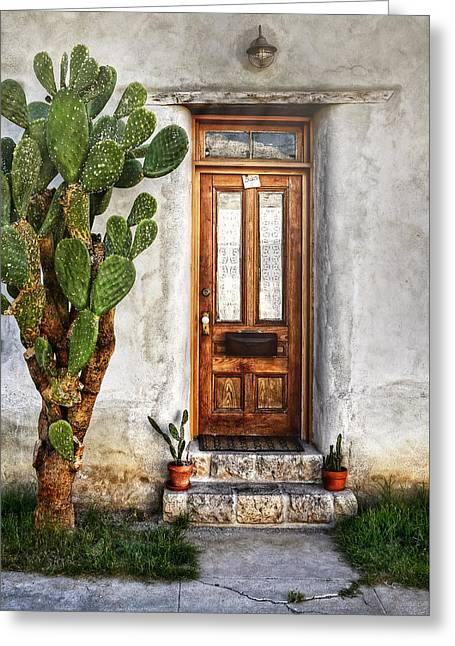 Greeting Card featuring the photograph Wood Door In Tuscon by Ken Smith