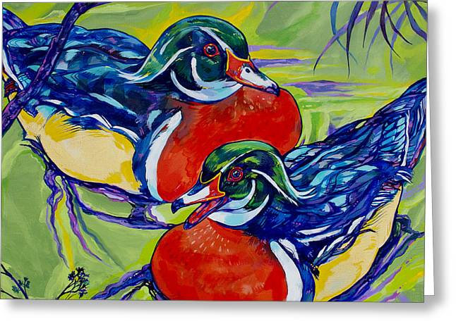 Wood Duck 2 Greeting Card by Derrick Higgins