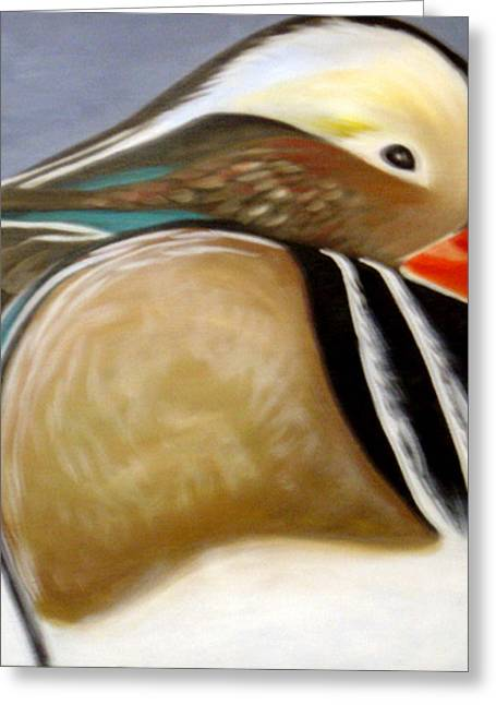 Wood Duck  Greeting Card by Nicoletta Filarski