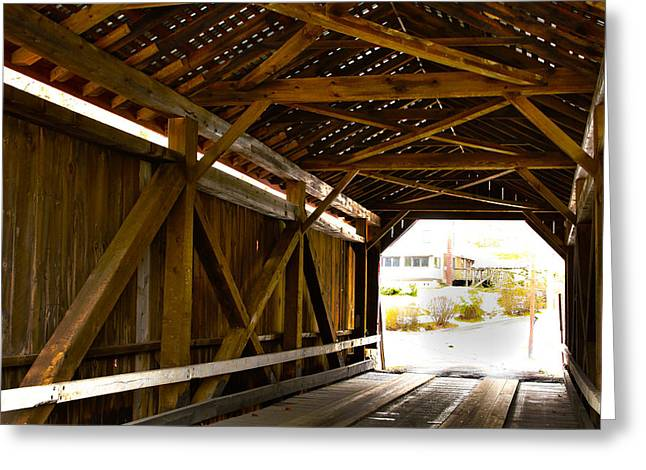 Wood Fame Bridge Greeting Card