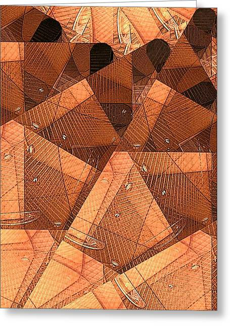 Wood Forms Greeting Card by Ron Bissett