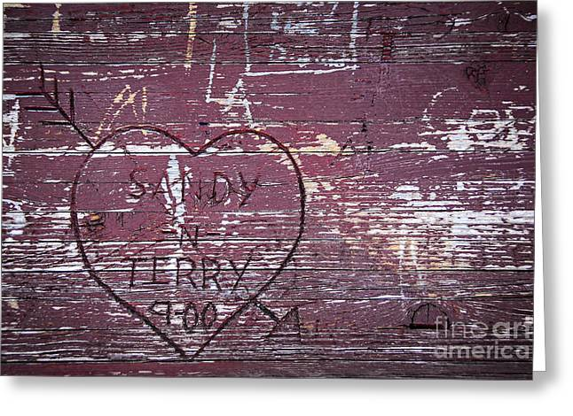 Wood Graffiti Greeting Card by Elena Elisseeva