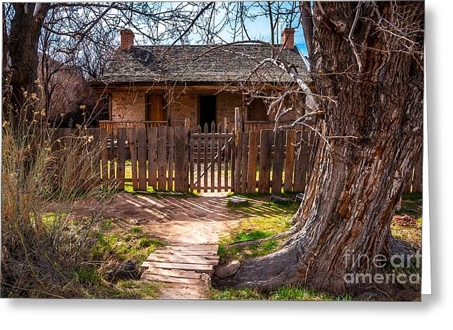 Wood Home - Grafton Ghost Town - Utah Greeting Card