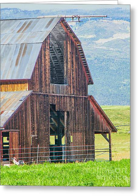 Wood Iron And Hayloft Greeting Card