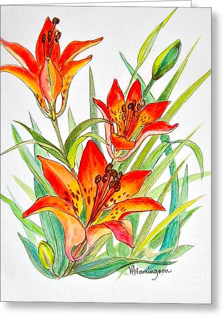 Wood Lily Greeting Card