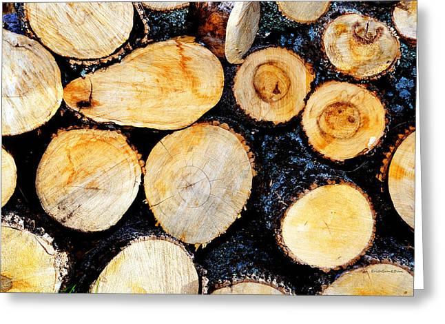 Wood Pile Greeting Card