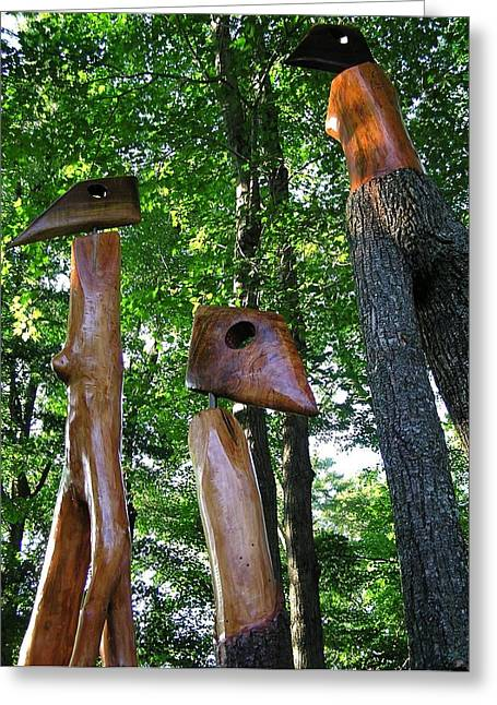 Wood Sculptures Greeting Card