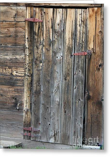 Wood Shed Door Greeting Card