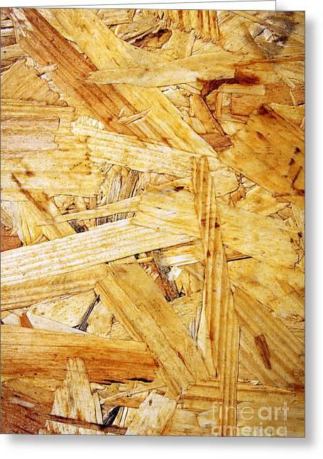 Wood Splinters Background Greeting Card by Carlos Caetano