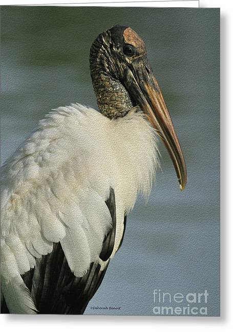 Wood Stork In Oil Greeting Card