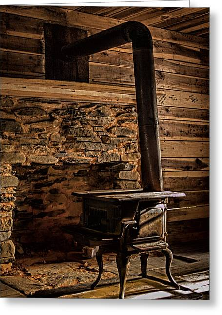 Wood Stove Greeting Card by Dave Bosse