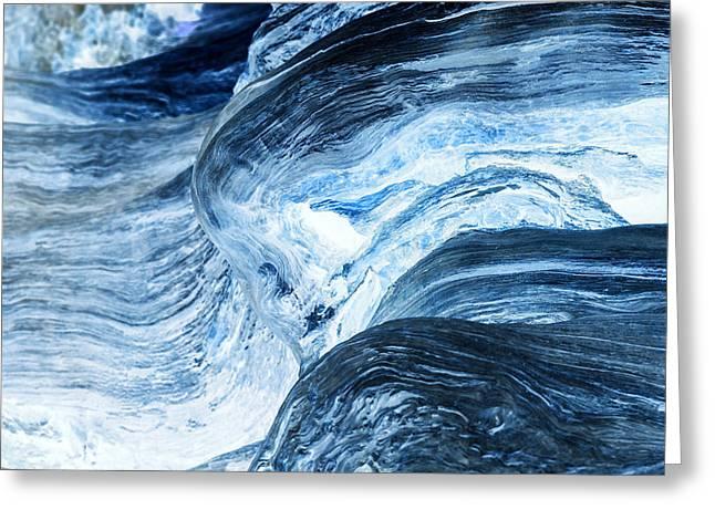 Wood Waves Greeting Card by Karma Boyer