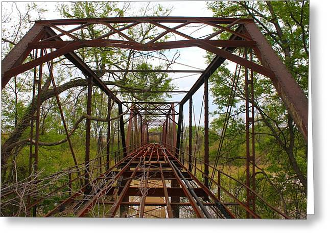 Woodburn Bridge Indianola Ms Greeting Card