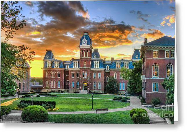 Woodburn Hall Evening Sunset Greeting Card by Dan Friend