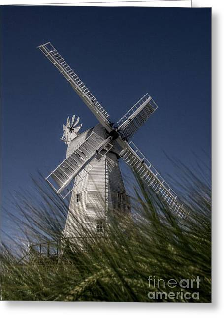 Woodchurch Windmill Greeting Card by Lee-Anne Rafferty-Evans