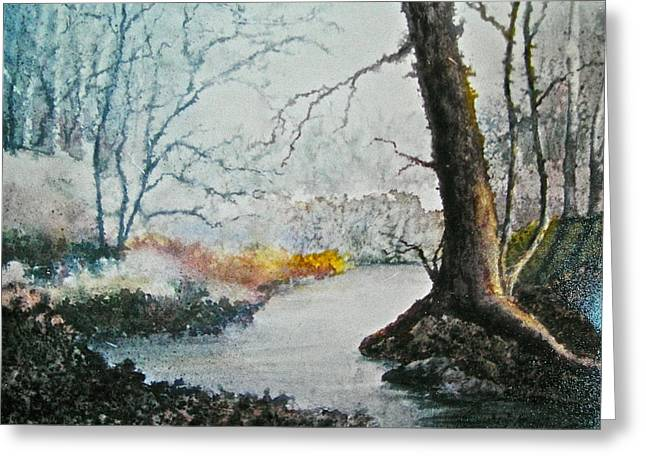 Wooded Stream Greeting Card