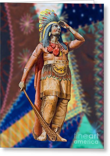 Wooden American Indian Greeting Card