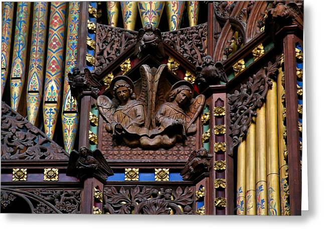 Wooden Angels Ely Cathedral Greeting Card
