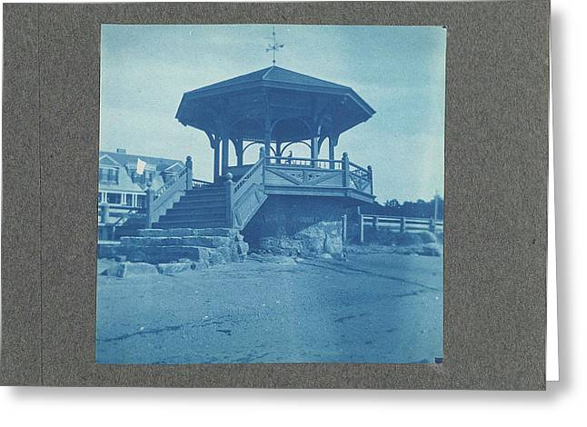 Wooden Bandstand With Stairs And Wind Vane Greeting Card