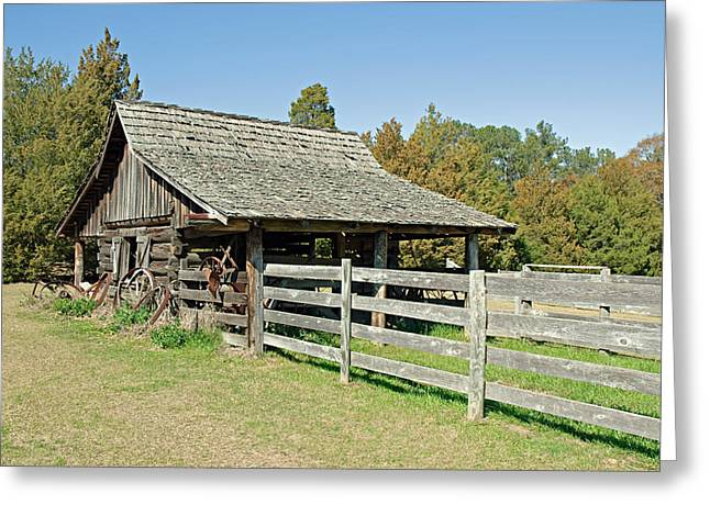 Greeting Card featuring the photograph Wooden Barn by Charles Beeler