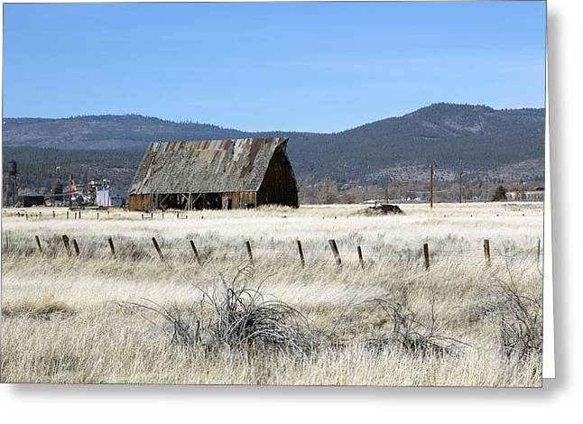Wooden Barn Near Susanville Greeting Card