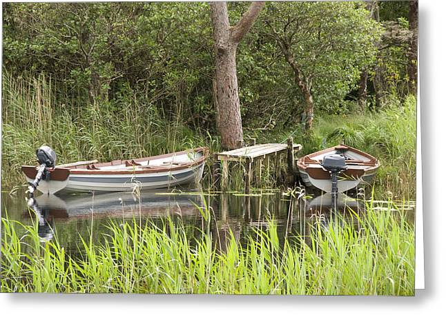 Wooden Boats Greeting Card by Jeremy Voisey