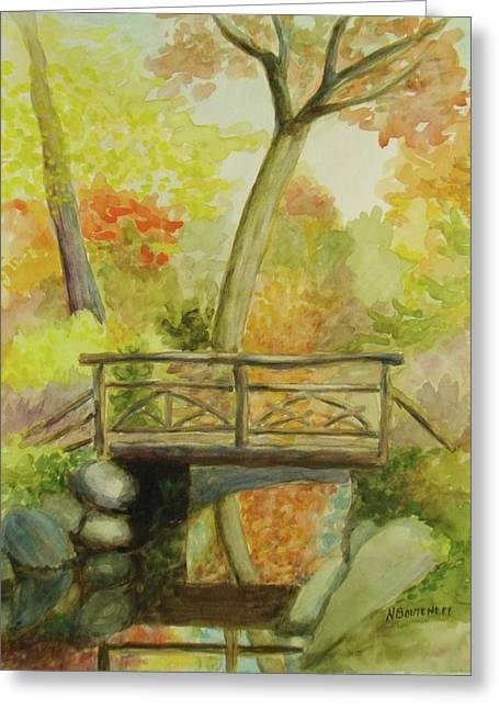 Wooden Bridge Central Park  Greeting Card