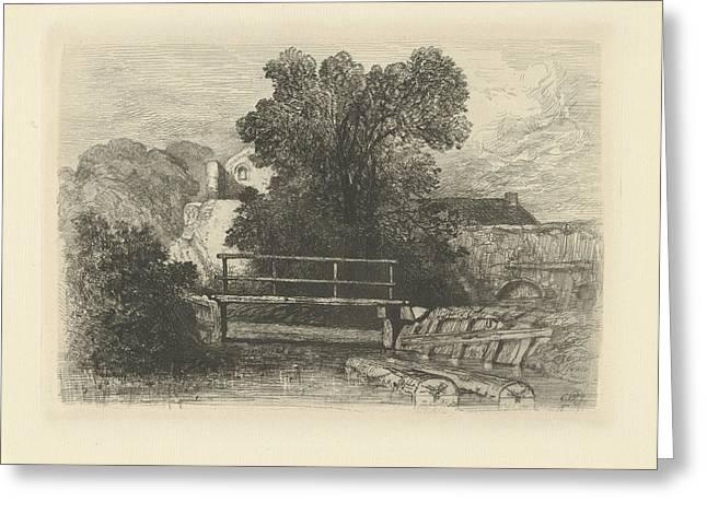 Wooden Bridge, Charles Rochussen Greeting Card by Artokoloro