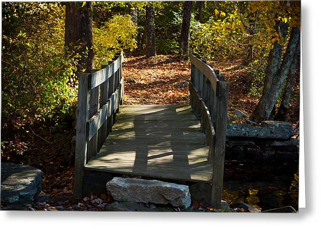 Wooden Bridge - Ledyard Sawmill Greeting Card