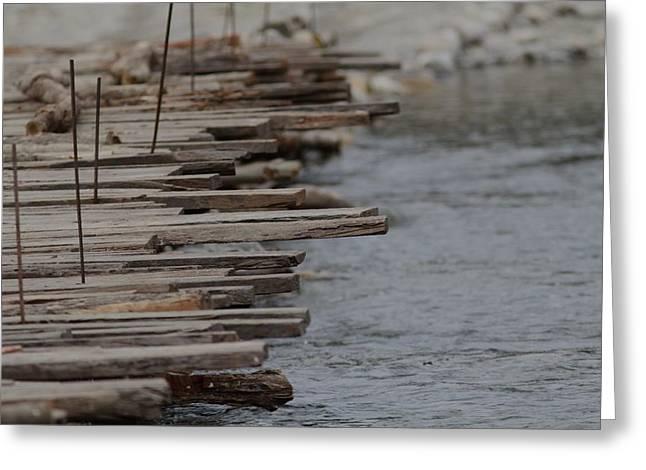 Wooden Bridge  Greeting Card by Ramabhadran Thirupattur