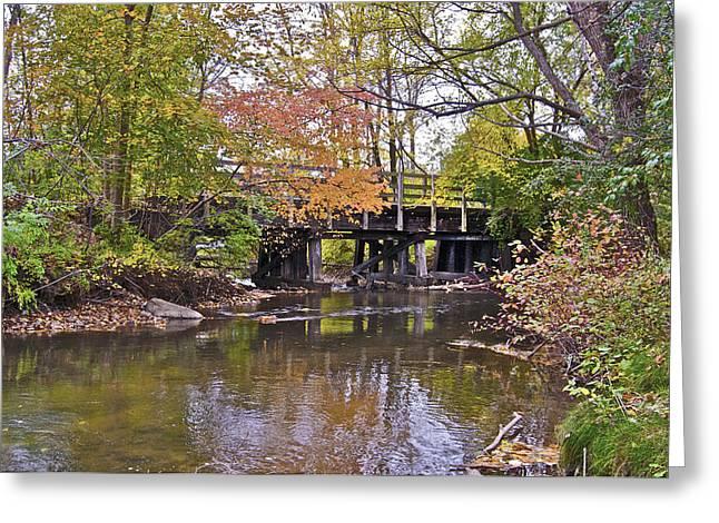 Wooden Bridge Rochester Hills Greeting Card