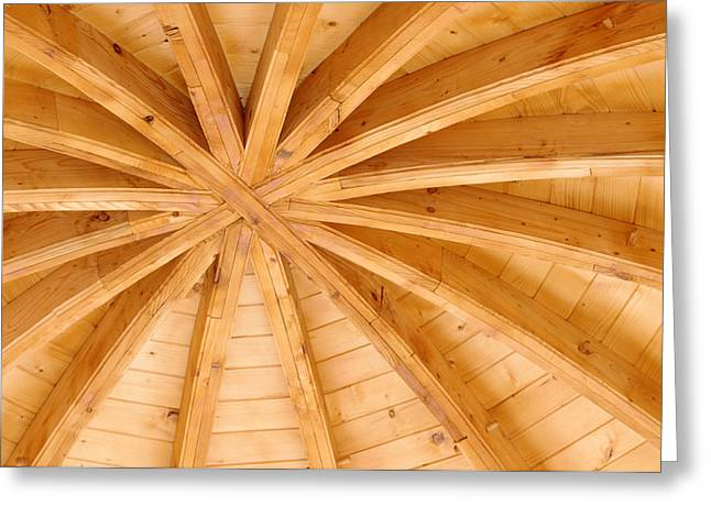 Wooden Ceiling  Greeting Card by Ioan Panaite