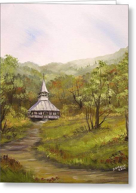 Wooden Church In Transylvania Greeting Card by Dorothy Maier
