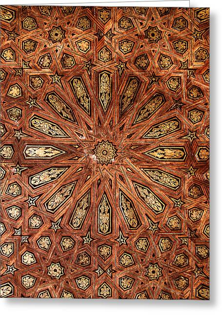 Wooden Coffered Ceiling In The Alhambra Photograph By